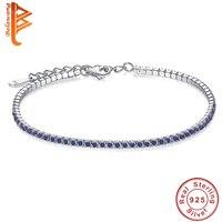 Wedding Bracelet Zircon Sức Chất Lượng Cao AAA Vòng Pha Lê Trendy 925 Sterling Silver Bạc Tennis Charm Bracelet Cho Phụ Nữ Món Quà