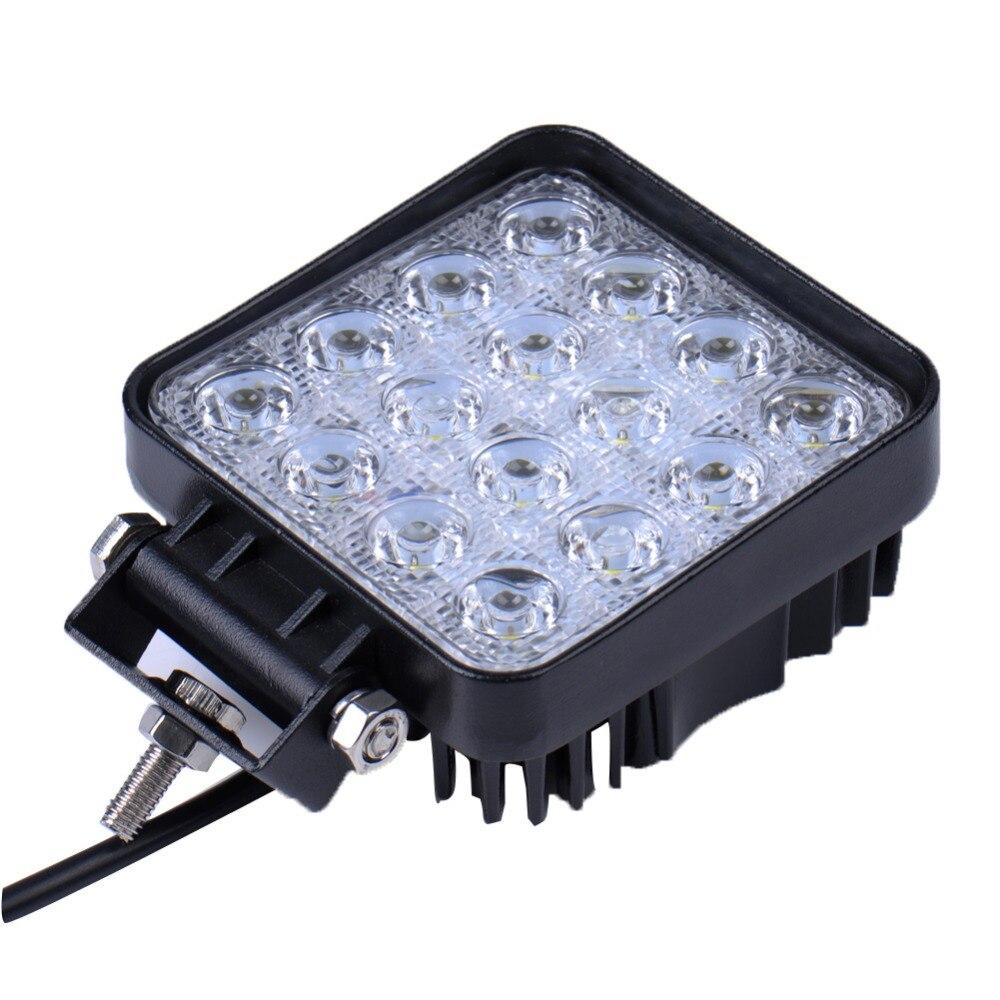 2 komada 48W 16 x 3W Auto LED svjetlosna traka kao četvrtasto radno - Svjetla automobila - Foto 3