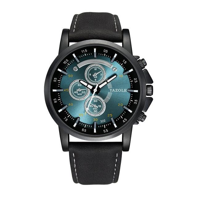 2018 Yazole Luminous Men Watch Luxury Top Brand Business Male Clock Quartz-wristwatch Leisure Leather Quartz Watch Relogios