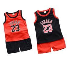 b69494deb2 Conjunto de 2 piezas de ropa deportiva de verano para niño, uniforme de  baloncesto para