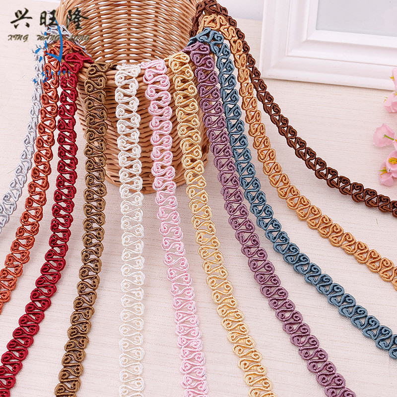 Arts,crafts & Sewing Xwl 12m/lot 1.5cm Wide Curtain Lace Trims Sofa Stage Lamp Tapestry Curtain Accessories Lace Ribbon Belt Diy Sewing Wedding Trim Ture 100% Guarantee Apparel Sewing & Fabric