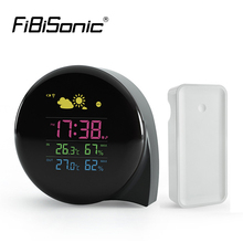 Sale Desktop Colorful LED Display In/outdoor Temperature Instruments Wireless Weather Station Alarm Clock Digital Display Thermometer