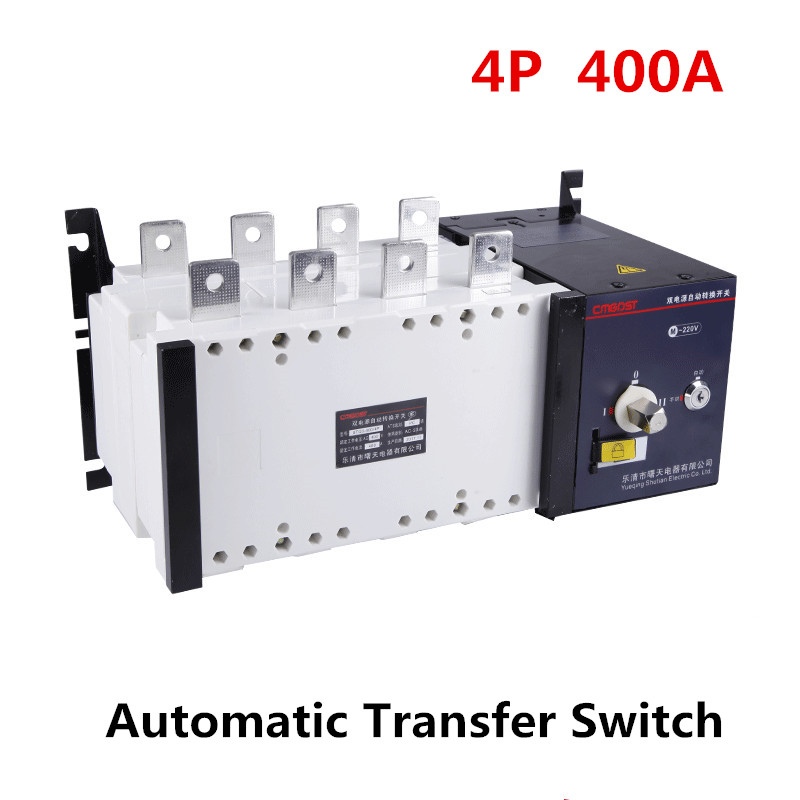 4P 400A Dual Power Automatic Transfer Switch PC Grade 380v Three phases Circuit Breaker Isolation type 400A ATS 400 amp 3 pole cm1 type moulded case type circuit breaker mccb