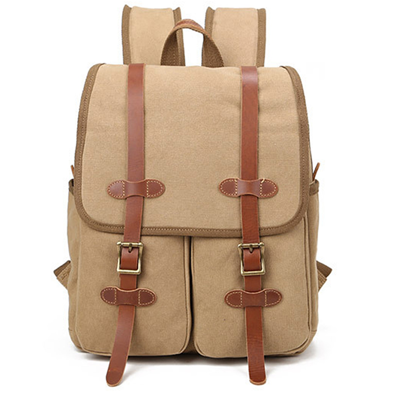 KAKA Cool Male Canvas Laptop Rucksack Unisex Casual High Quality School Backpack for Boys Gilrs Men's Travel Backpacks vacuum cleaner accessory hepa filters bristle brush flexible beater brush 3 armed for irobot roomba 700 series 760 770 780 790