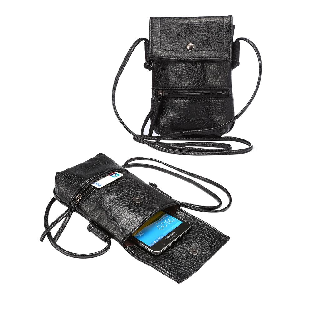 <font><b>Universal</b></font> Stylish Shoulder Oblique Cross Package Multifunctional 6.3 inch Mobile Phone Bag Hanging Neck Wallet Outdoor Phone Bag