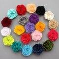 Бесплатная доставка, 100 шт./лот, Роза почувствовала, ткань Цветочные Аппликации DIY для аксессуаров для волос