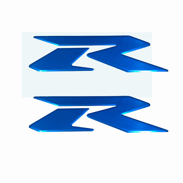 Blue motorcycle emblem badge decal 3d tank wheel logo for suzuki r sticker