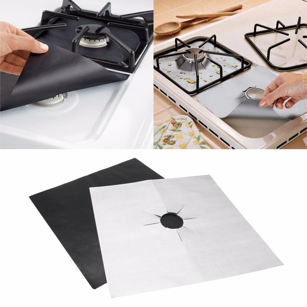 Come Pulire Il Piano Cottura us $1.82 21% off|4 pcs new style easy clean square foil gas hob protector  liner removable foil gas cover for kitchen cleaning tools drop