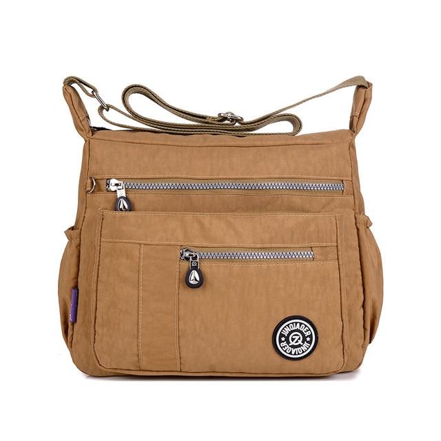 Multi-Zip Nylon Bag