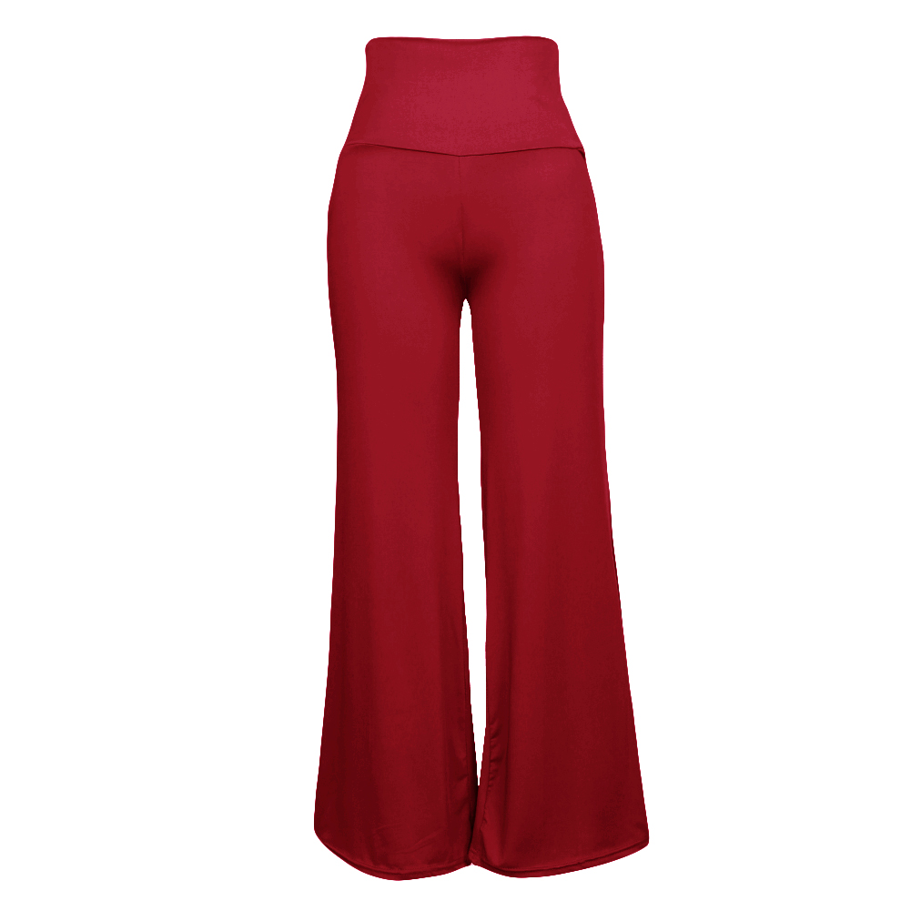 Women High Waist   Wide     Leg     Pants   Side Zipper Solid Color Oversize Flare Long Loose sweatpants female Trousers Plus Size XXXL 2019
