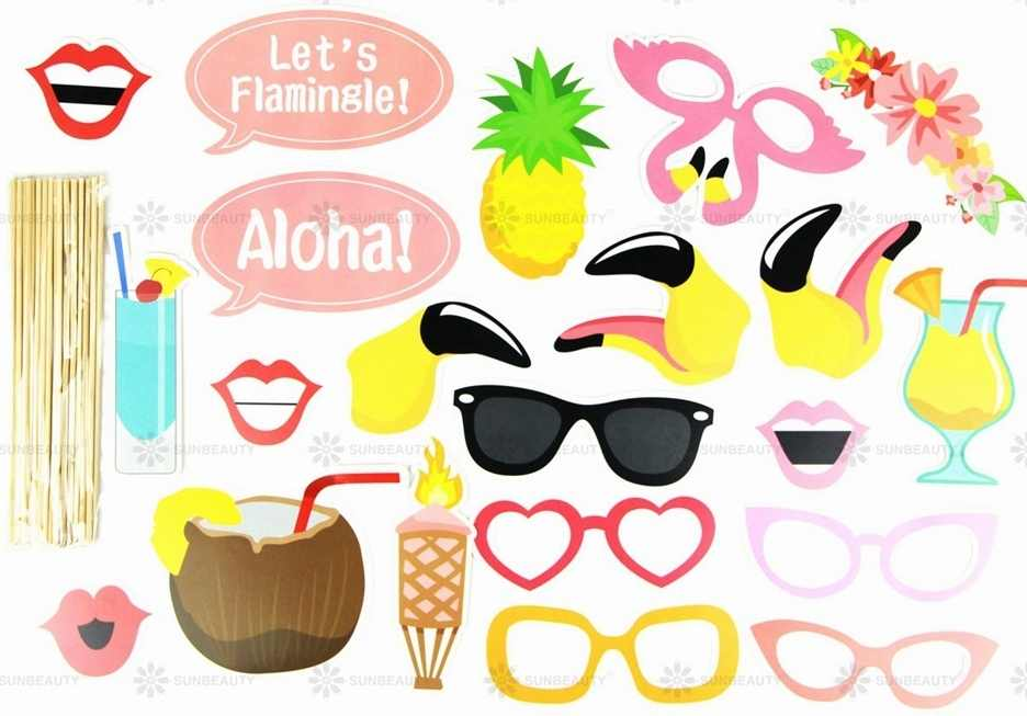 photograph regarding Photo Props Printable known as Summertime Temper Printable Hawaiian Photograph Booth Props Beach front Luau Hawaiian Celebration Decorations Pool Summer months Season Bash Tropical Celebration