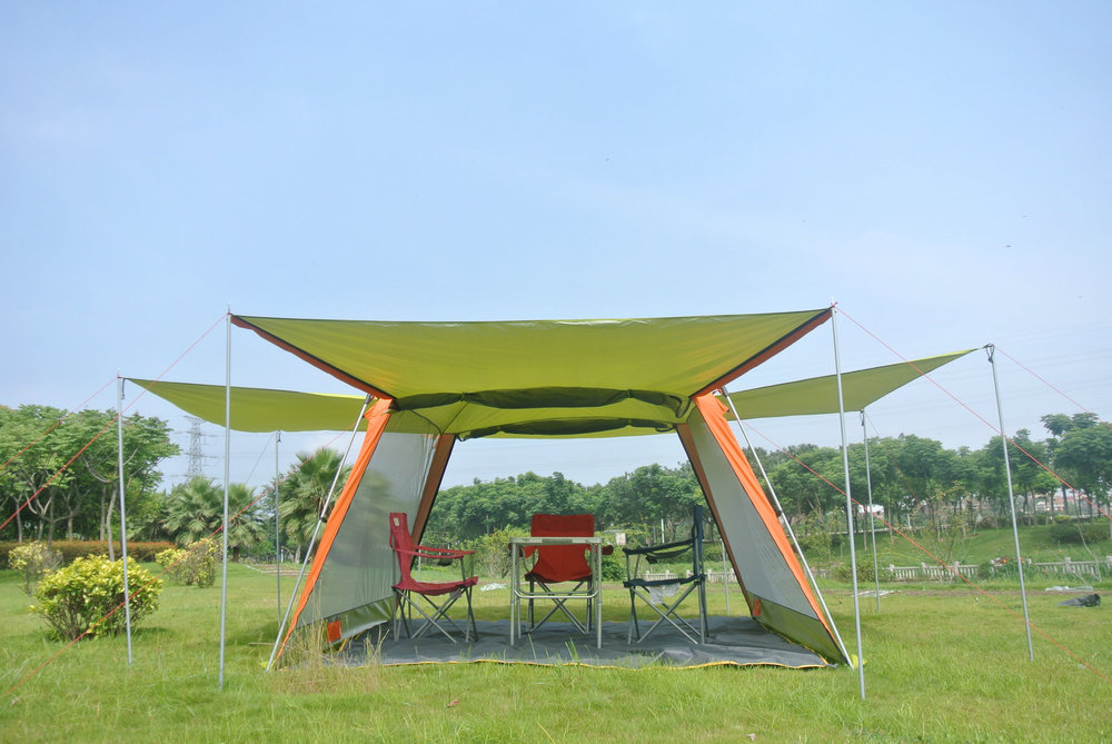 2017 large size 5-8 person awning pagola hiking travel beach fishing gazebo party family outdoor camping tent large outdoor camping pergola beach party sun awning tent folding waterproof 8 person gazebo canopy camping equipment