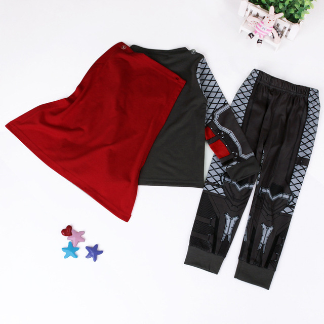2019 The Avengers Iron Man Children Pajamas Sets Captain America Sleepwear Boys Super Cool Spring Autumn Long Sleeve Pyjamas set 5