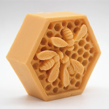 Honeybee nest handmade soap Cake chocolate silicone mold 3D Bee Molds for Soap Making