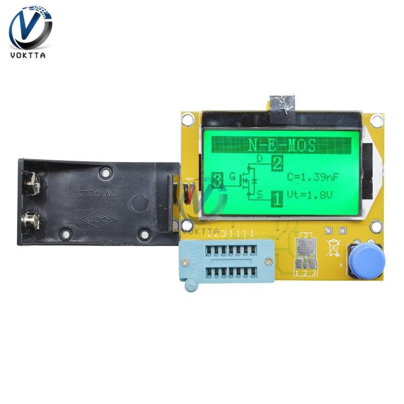 LCR-T4 Mega328 цифровой тестер транзисторов диодный Триод Емкость ESR LCR T4 метр 12864 9 в ЖК-экран для MOSFET/JFET/PNP/NPN