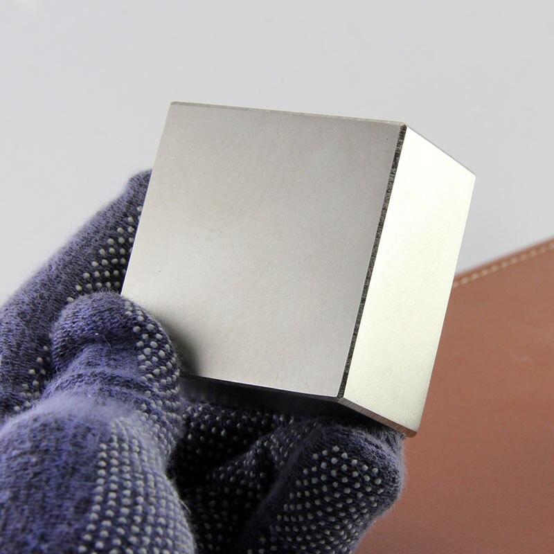 2 pièces Bloc 50x50x30mm Terre Rare Aimants Puissants Nickel Néodyme Aimant