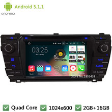 Quad core WIFI FM Android 5 1 1 2Din 1024 600 RDS font b Car b
