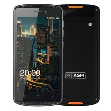 AGM X1 Mini IP68 Étanche 4G Mobile Téléphone MSM8909 Quad Core 2 GB + 16 GB 5.0 Pouce IPS Android 6.0 8MP NFC OTG 4000 mAh SmartPhone