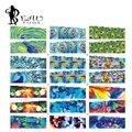 12 Unids/lote Colorido Pavo Real Pegatinas de Uñas de Arte Belleza Manicura de Uñas de Transferencia de Agua Pegatinas de Uñas Diseño Seguro QJ409-420