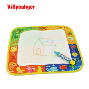 Image 3 - 50 יח\חבילה 29x30cm שאינו רעיל מים ציור מחצלת עם 1 קסם עט לילדים 8811  1