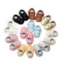 Nova Moda Bebê Primeiros Sapatos Caminhantes Mocassins Macios Moccs PU Bebe Crianças Sapatos Berço Infantil Da Menina do Menino Sapatos de couro Franja calçado