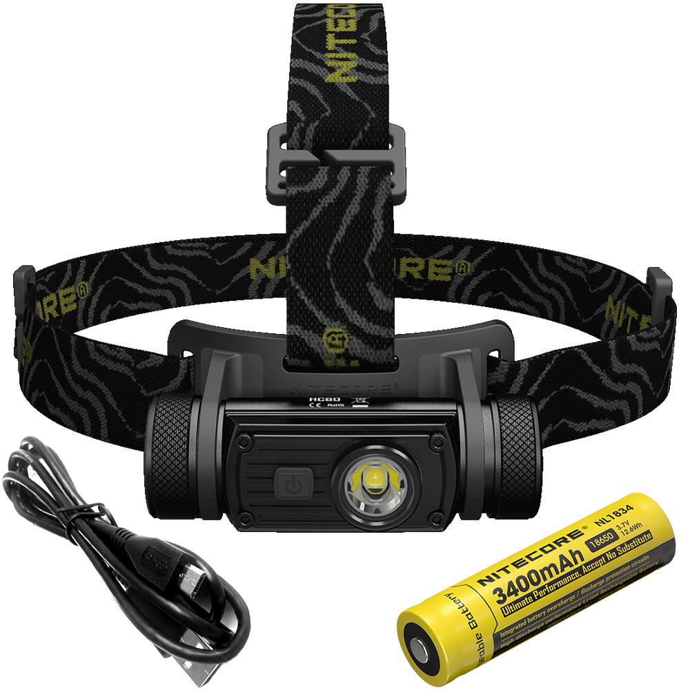 Top Sales NITECORE HC60 HC60W Headlamp CREE XML2 U2 1000LMs Headlight Waterproof Flashlight Outdoor Camping Travel