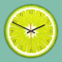 Creative Wall Clock 11 Inch Cartoon Fruits Clock Kids Room Wall Decoration Colorful Wall Watch Silent Movement Unique Gift