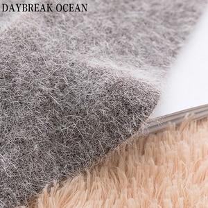Image 4 - 4 Pair High Quality Super Soft Angora Cashmere Rabbit Wool Socks Thick Warm Merino Men Socks 2018 Big Size Winter Socks For Men