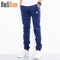 Oufisun 2018 Spring Summer Men New Casual Pants Men 100 Cotton Slim Fit Chinos Fashion Trousers