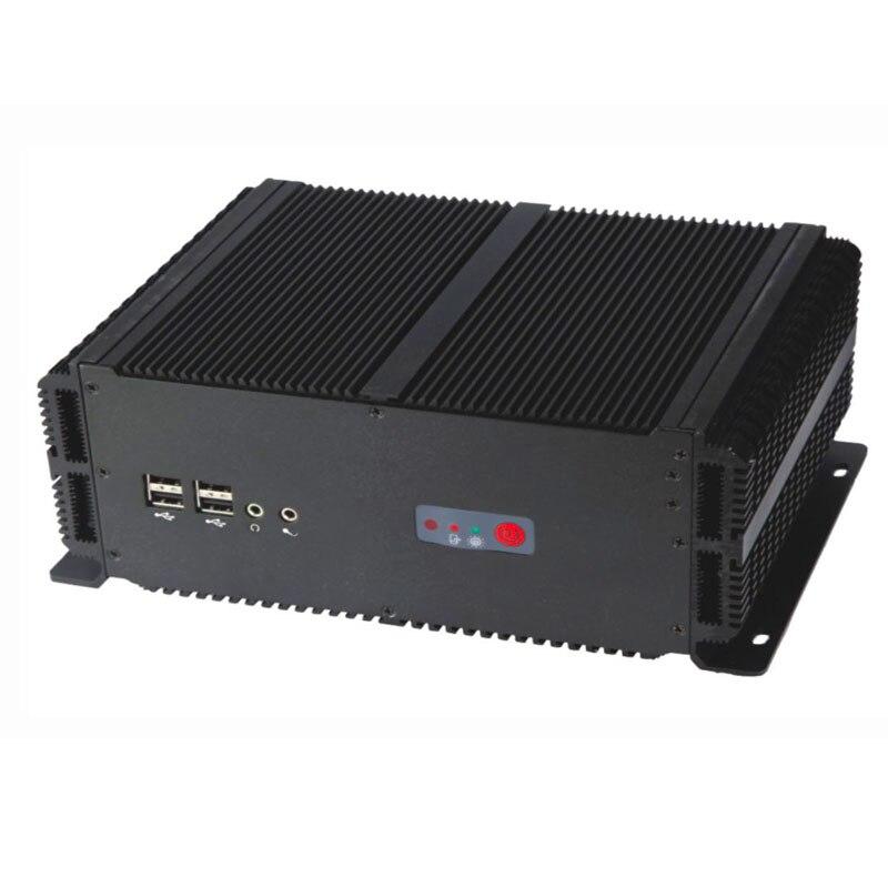 Купить с кэшбэком embedded industrial PC intel P8600 processor 2*LAN & RS485 Rugged computer Fanless Mini PC