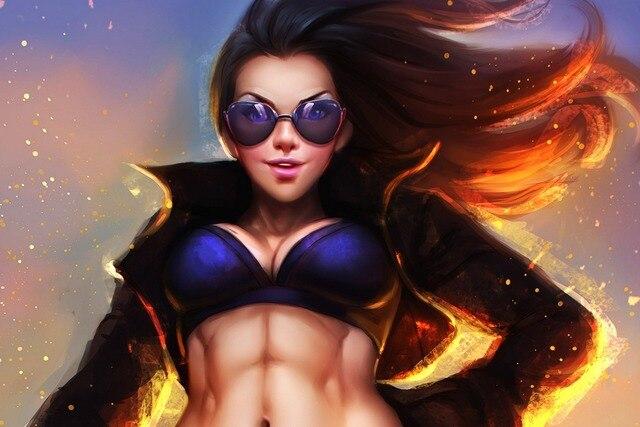 Girl sexy abs