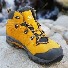 Clorts уличной обуви Для женщин водонепроницаемые туристические ботинки из натуральной кожи Пеший Туризм Сапоги Для женщин горные ботинки Армейские сапоги HKM-822