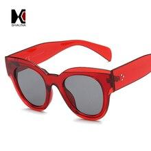 SHAUNA Retro Women Cat Eye Sunglasses Brand Designer Nail Decoration