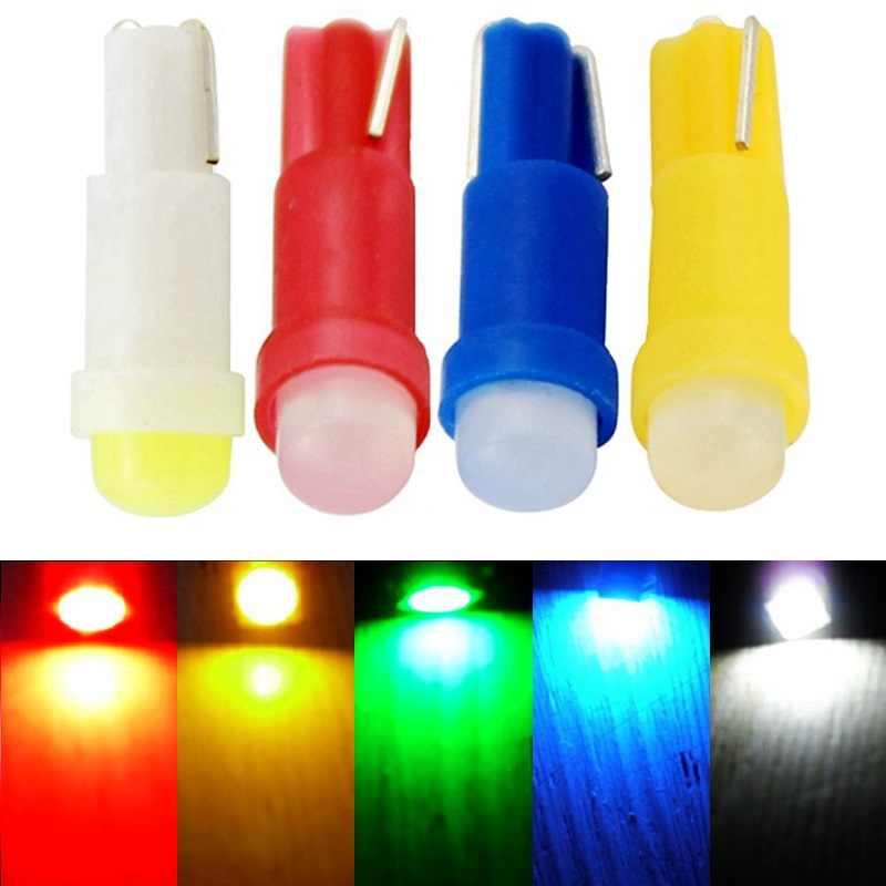 10 PCS T5 1 SMD LED Bulb Ceramic Dashboard Gauge Instrument Auto Light Car Lamp DC12V FREE SHIPPING