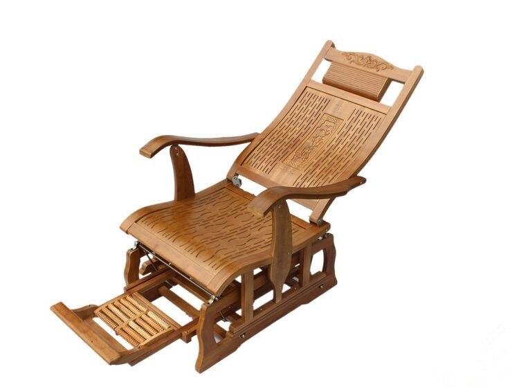 Stoel Voor Ouderen : Moderne bamboe schommelstoel volwassen zweefvliegtuig rocker