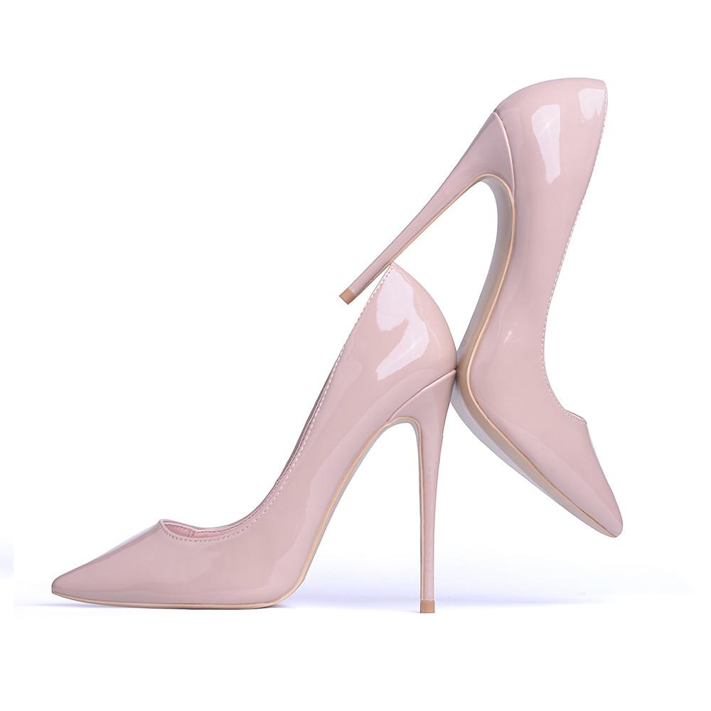 センチメートルクラシックヌードスティレットヒールセクシーなウエディングの結婚式の靴 IOW ハイヒールの女性パンプス 12 6