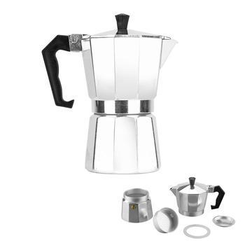 3/6/9 Cups Manual Coffee Espresso Maker Pot Aluminum Teapot Cafetiere  Coffee Tea Percolator Filter Press Plunger