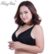 MengShan Ultra-thin large bra No sponge Full cup closure lingerie femme Adjusted Sexy Lace big size underwear women DEF