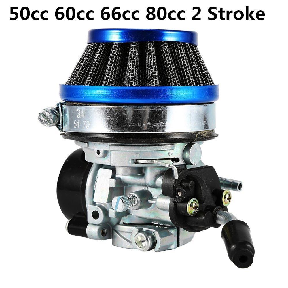 Carburetor Air Filter JRL Engine Motor Kit For 2-Stroke 80Cc Motorized Bicycle