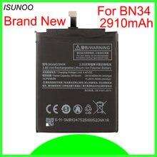 Аккумулятор BN34 на 2910 мАч для Xiaomi Redmi 5A, аккумулятор 5,0 дюйма, высококачественные Сменные литий-полимерные батареи с реальной емкостью, 2 шт./ло...