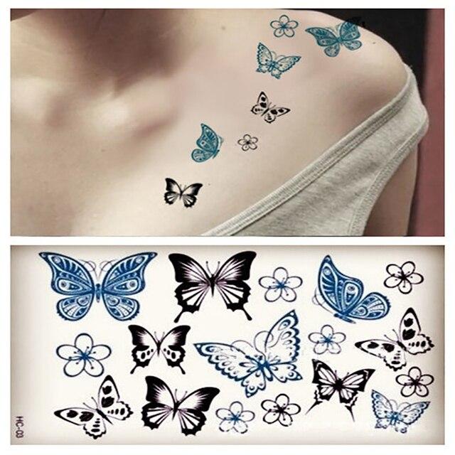 50 Piezas Pequeño Impermeable Etiqueta Engomada Del Tatuaje Temporal