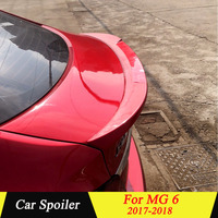 For MG 6 2017 2018 Rear Spoiler High Quality ABS Plastic Primer Color Car Tail Wing Decoration Trunk Spoiler For MG6
