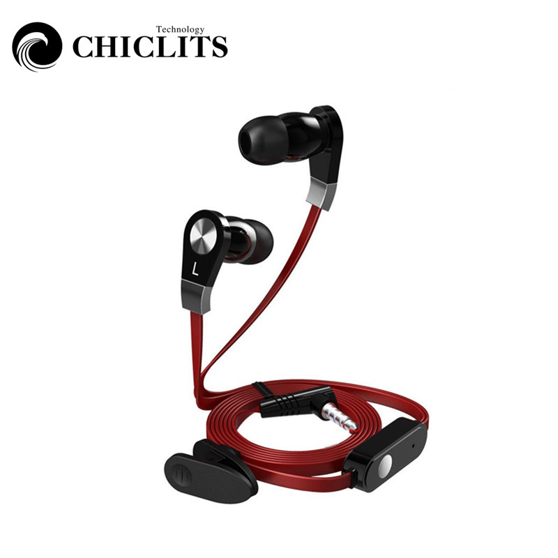 CHICLITS In-Ear Earphone JM02 3.5mm Black/Red/White Stereo Earbuds With Microphone For Music Smart Phone Earplugs