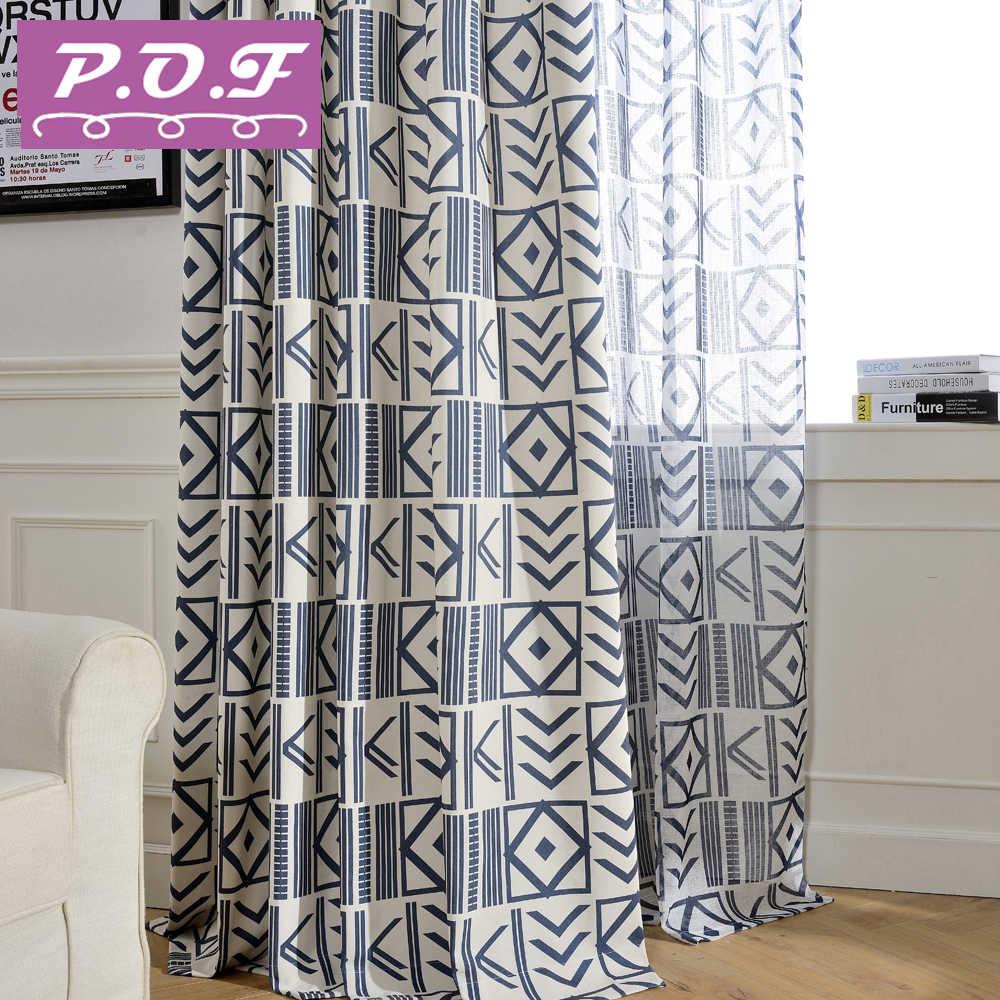 Rideaux Design Pour Chambre p.o.f rideaux pour salon tulle pour chambre imprimé rideaux