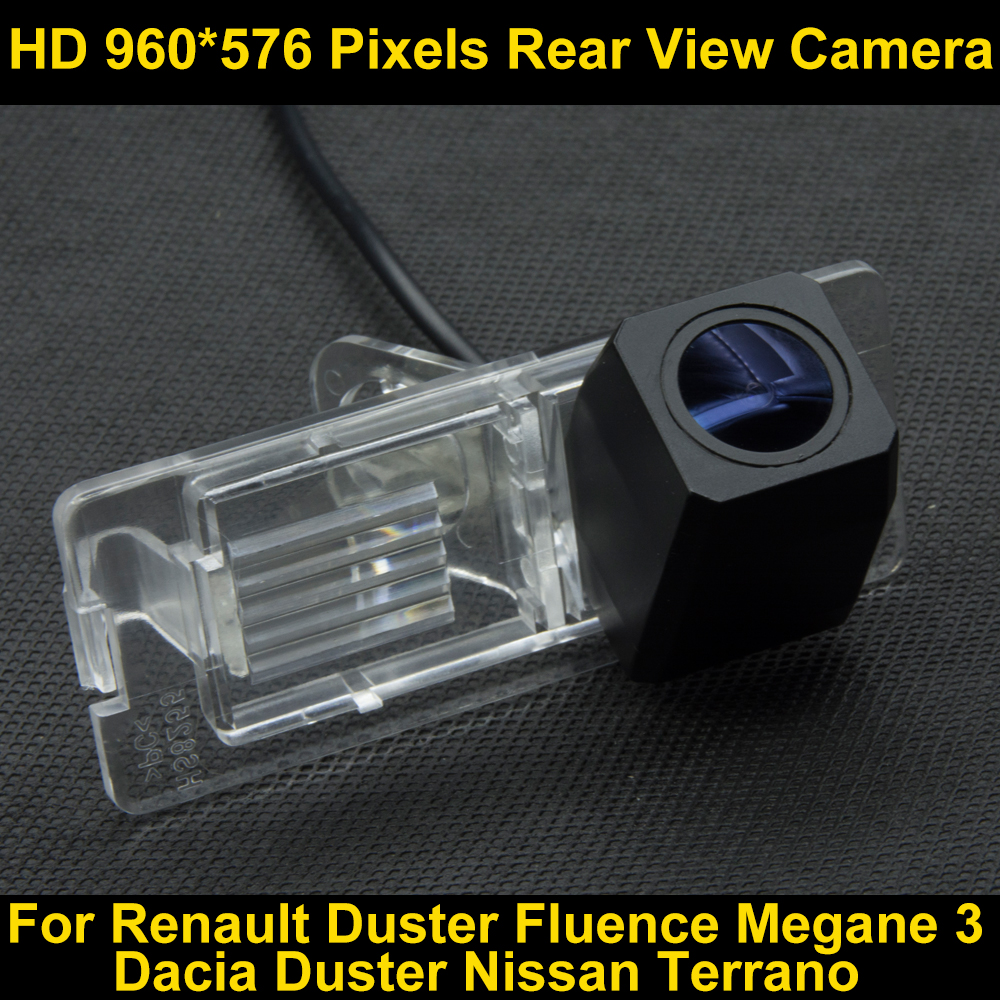 PAL HD 960*576 Pixels Parking Rear view Camera for Renault Duster Fluence Duster Megane 3 For Nissan Terrano Car Backup Camera 860 576 pixels back up camera for renault megane 3 iii 2008 2016 rearview parking 580 tv lines dynamic guidance tragectory