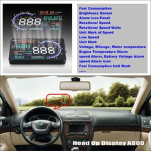 For Skoda Octavia Tour Laura - Car HUD Head Up Display  Saft Driving Screen Projector Refkecting Windshield