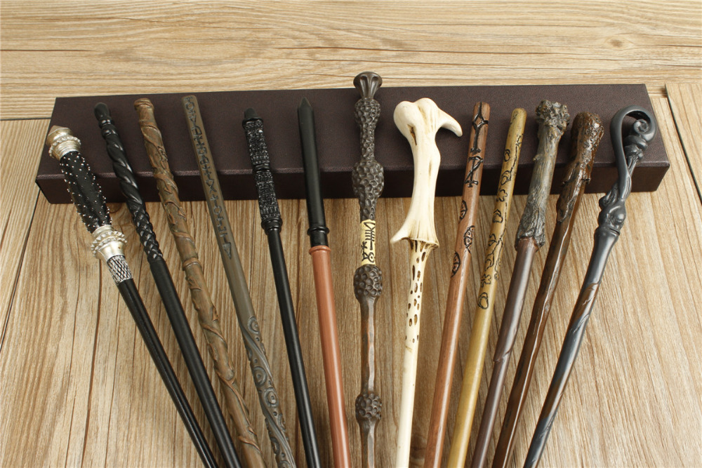 20pc Harri Potter New Top Quality Metal Core Dumbledor Hermione Magic Wand With Gift Box Cosplay Game Prop Collection Toy Stick image