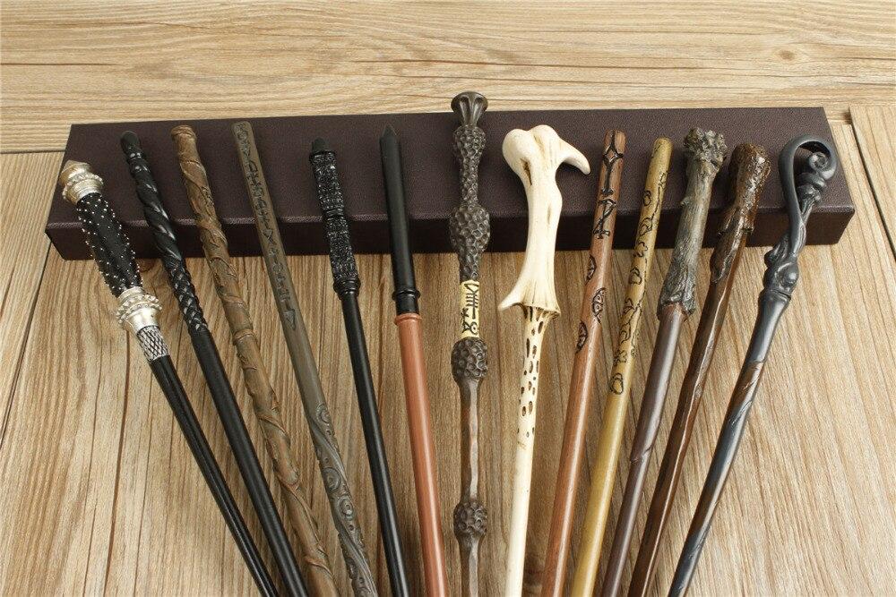 Plein 20 pcs Date Nouveau Top Qualité Noyau Métallique Harry Potter Baguette magique Avec Boîte-Cadeau Cosplay Jeu Prop Collection Jouet bâton