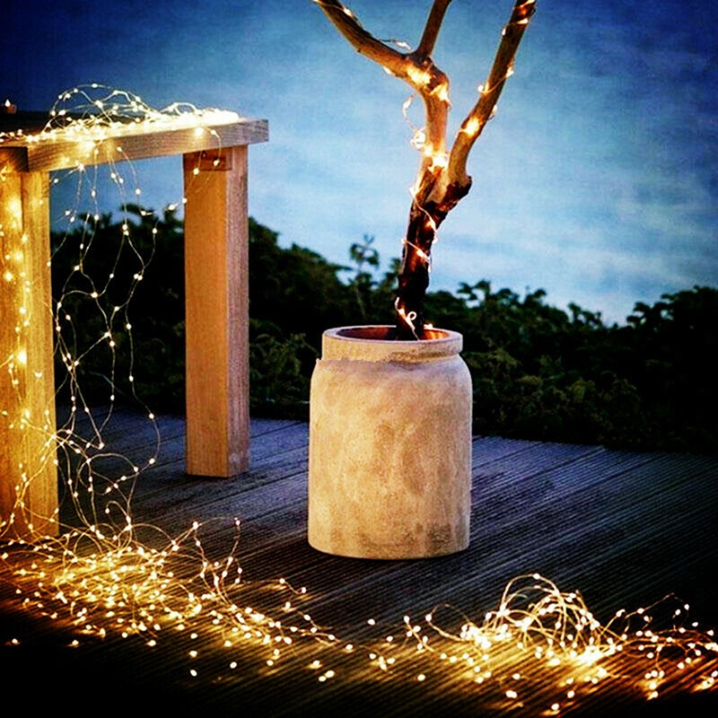 Waterproof 100Led Solar Led Light Copper Wire String Outdoor Strip Christmas Party Wedding Garland Home Decoration