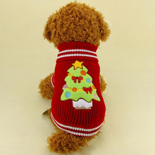 Купить с кэшбэком Warm Dog Sweaters Christmas For Small Dogs Teddy Coat Cheap Dog Clothes Dachshund Pull Pour Chien Windmolen Hond Pets 5d0025